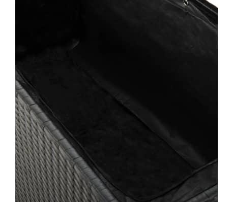 vidaXL Boîte de rangement de jardin Noir 120x50x60 cm Résine tressée[5/5]