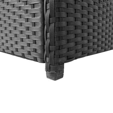 vidaXL Boîte de rangement de jardin Noir 120x50x60 cm Résine tressée[4/5]