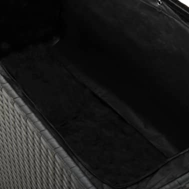 vidaXL udendørs opbevaringkasse sort 120 x 50 x 60 cm polyrattan[5/5]