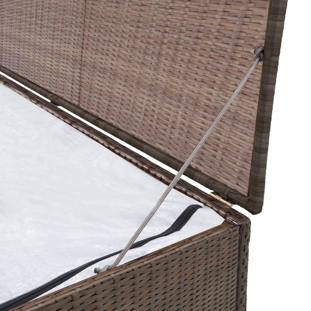 auflagenbox gartenbox kissenbox gartenkiste garten aufbewahrungsbox poly rattan ebay. Black Bedroom Furniture Sets. Home Design Ideas