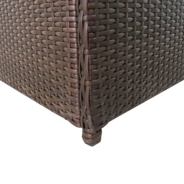"vidaXL Garden Storage Box Brown 47.2""x19.7""x23.6"" Poly Rattan[4/5]"