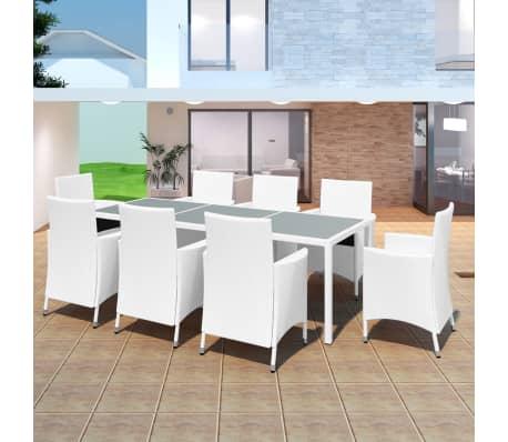 acheter vidaxl jeu de mobilier de jardin 17 pcs blanc. Black Bedroom Furniture Sets. Home Design Ideas