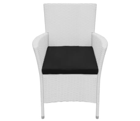 vidaXL Garten-Esszimmerstühle 2-teilig Poly Rattan Creme Weiß[3/6]