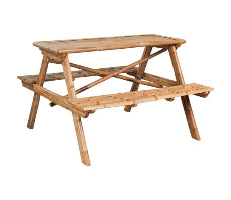 vidaXL Piknikbord 120x120x78 cm bambus