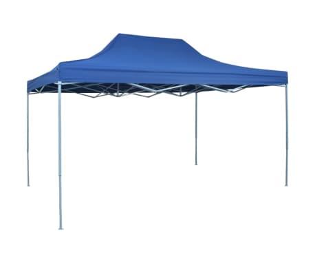 acheter vidaxl chapiteau r tractable 3 x 4 5 m bleu pas cher. Black Bedroom Furniture Sets. Home Design Ideas