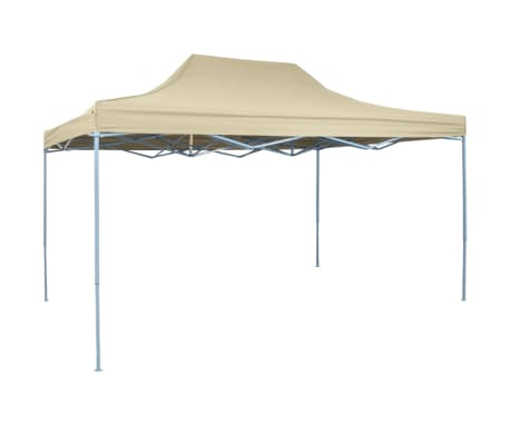 vidaXL Carpa pleglable Pop-up 3x4,5 m blanco crema-picture