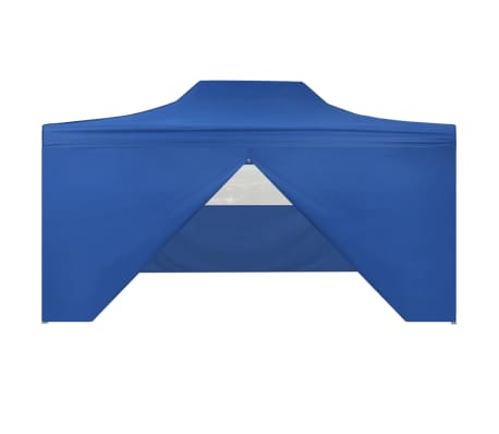 vidaXL Faltzelt Pop-Up mit 4 Seitenteilen 3 x 4,5 m Blau[3/11]