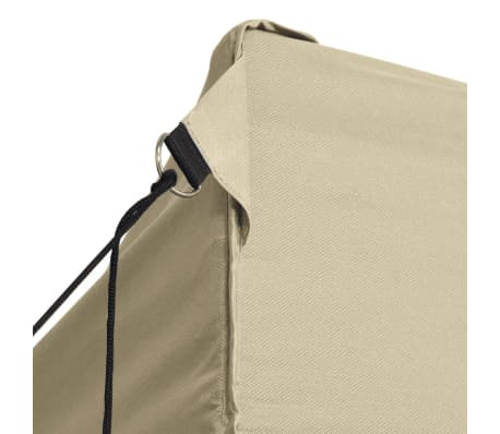 vidaXL Foldable Tent Pop-Up with 4 Side Walls 3x4.5 m Cream White[5/11]