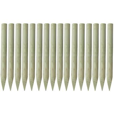 vidaXL 16 db hegyesvégű, FSC impregnált fa kerítésoszlop 5 x 100 cm[1/2]