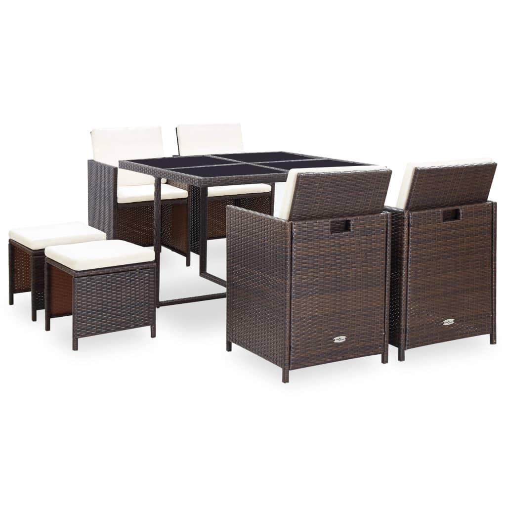 vidaxl-21-piece-outdoor-dining-set-brown-poly-rattan