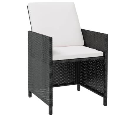 vidaxl garten essgruppe 11 tlg schwarz poly rattan akazienholz g nstig kaufen. Black Bedroom Furniture Sets. Home Design Ideas