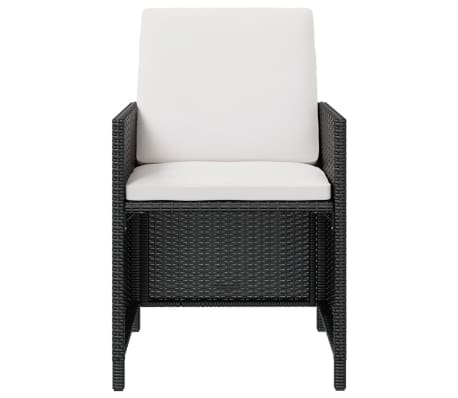 vidaxl garten essgruppe 11 tlg schwarz poly rattan. Black Bedroom Furniture Sets. Home Design Ideas