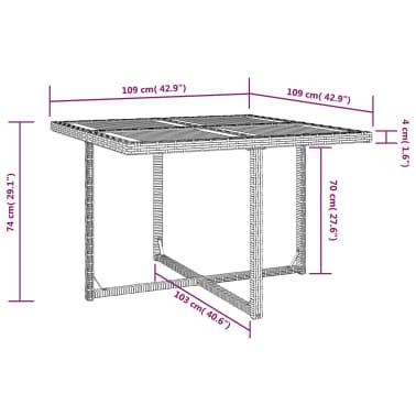 vidaXL 9 Piece Outdoor Dining Set Poly Rattan and Acacia Wood Black[10/10]