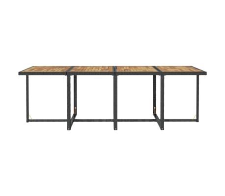 vidaXL Mobilier d'extérieur 13pcs Résine tressée et bois d'acacia Noir[9/10]