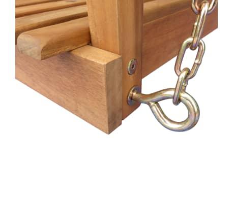 vidaXL Chaise balançoire pour jardin + baldaquin eucalyptus acacia[4/5]