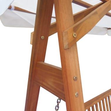 vidaXL Chaise balançoire pour jardin + baldaquin eucalyptus acacia[2/5]