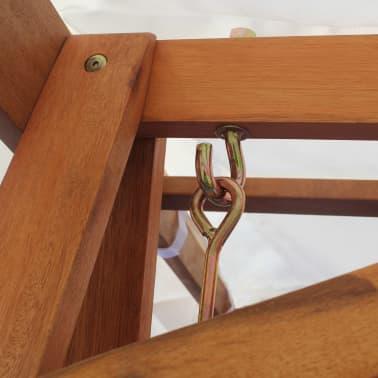 vidaXL Chaise balançoire pour jardin + baldaquin eucalyptus acacia[3/5]