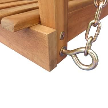 vidaXL Supamas sodo suoliukas su stogeliu, eukalipto, akacijos mediena[4/5]