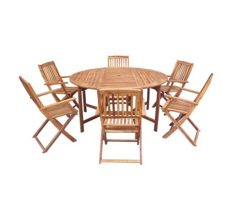 acheter vidaxl meuble de jardin 7 pcs pliable bois d 39 acacia pas cher. Black Bedroom Furniture Sets. Home Design Ideas
