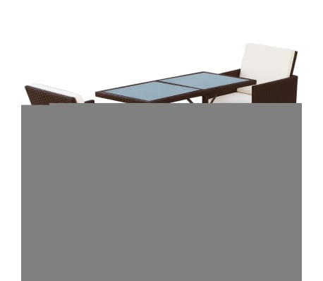 vidaxl garten essgruppe 7 tlg poly rattan braun g nstig kaufen. Black Bedroom Furniture Sets. Home Design Ideas