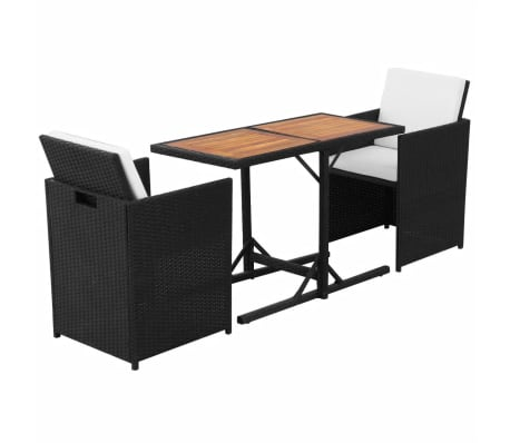vidaxl garten essgruppe 7 tlg poly rattan schwarz g nstig. Black Bedroom Furniture Sets. Home Design Ideas
