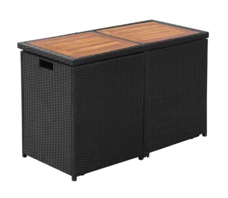 vidaxl garten essgruppe 7 tlg poly rattan schwarz zum schn ppchenpreis. Black Bedroom Furniture Sets. Home Design Ideas