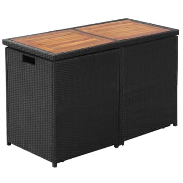 vidaxl garten essgruppe 7 tlg poly rattan schwarz g nstig kaufen. Black Bedroom Furniture Sets. Home Design Ideas