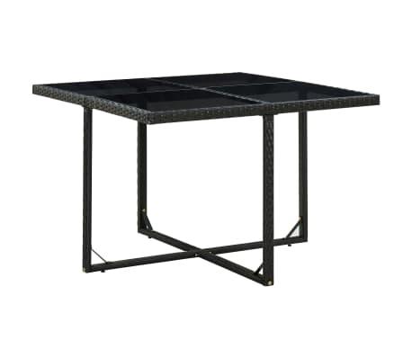 vidaxl garten essgruppe 25 tlg schwarz poly rattan g nstig kaufen. Black Bedroom Furniture Sets. Home Design Ideas