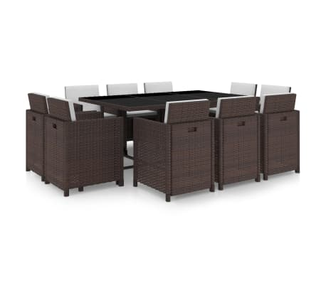 vidaxl garten essgruppe 31 tlg braun poly rattan g nstig kaufen. Black Bedroom Furniture Sets. Home Design Ideas