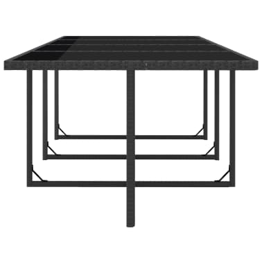 vidaXL 13 Piece Outdoor Dining Set with Cushions Poly Rattan Black[7/10]