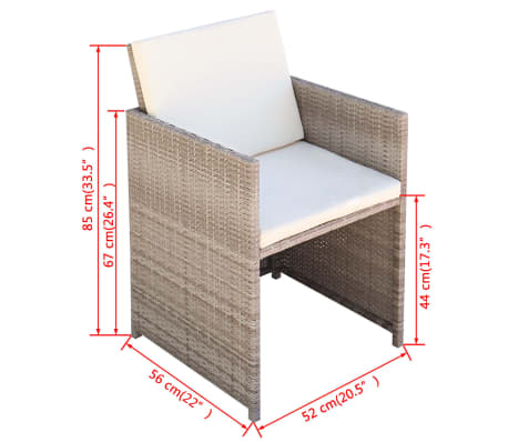 Acheter vidaxl jeu de mobilier d 39 ext rieur 11 pcs gris for Mobilier exterieur resine
