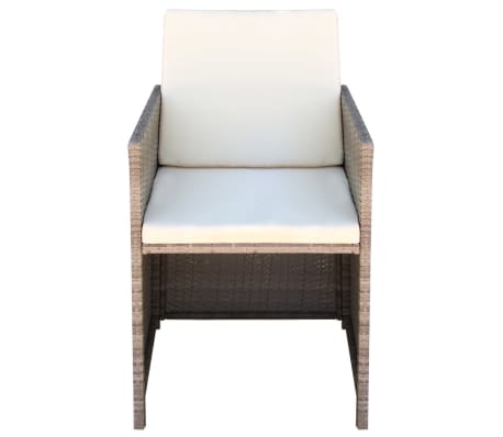 vidaxl essst hle 2 stk grau beige 52 56 85 cm poly rattan. Black Bedroom Furniture Sets. Home Design Ideas
