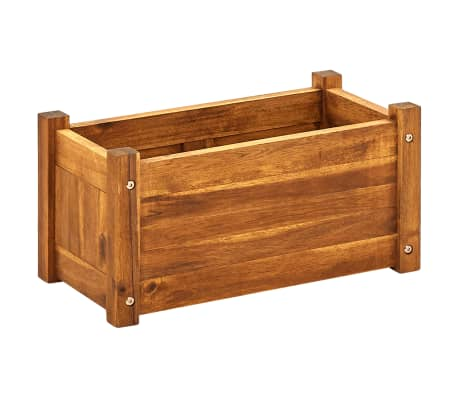 "vidaXL Garden Raised Bed Acacia Wood 19.7""x9.8""x9.8"""