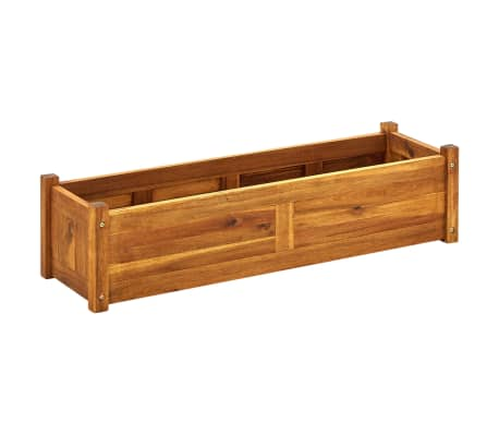 vidaXL Garden Raised Bed Acacia Wood 100x30x25 cm