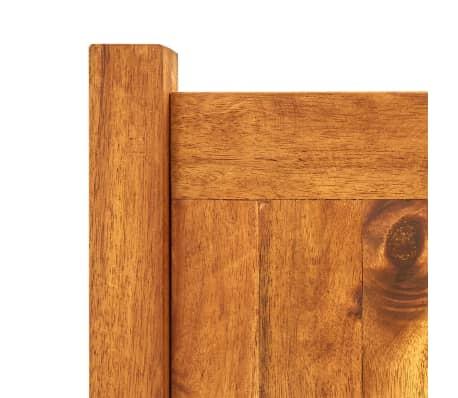 vidaXL Skrzynia na rośliny z drewna akacjowego, 200 x 50 x 25 cm[4/5]