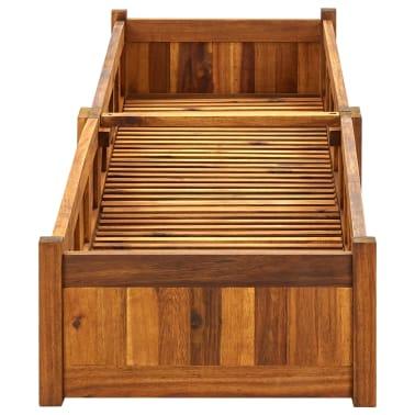 vidaXL Skrzynia na rośliny z drewna akacjowego, 200 x 50 x 25 cm[3/5]