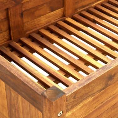 vidaXL Skrzynia na rośliny z drewna akacjowego, 200 x 50 x 25 cm[5/5]
