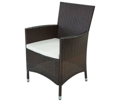 vidaxl garten essgruppe 21 tlg poly rattan braun g nstig kaufen. Black Bedroom Furniture Sets. Home Design Ideas