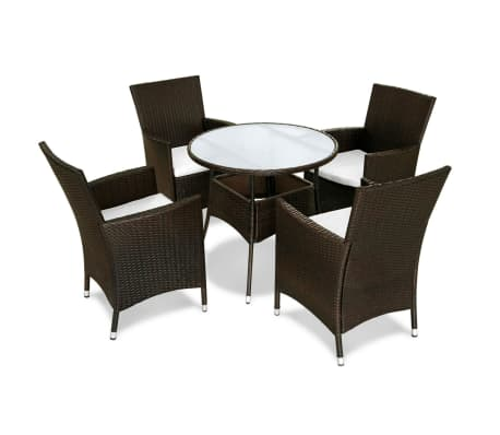vidaxl garten essgruppe 9 tlg poly rattan braun zum schn ppchenpreis. Black Bedroom Furniture Sets. Home Design Ideas