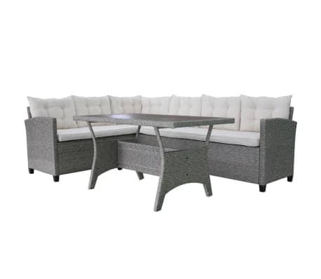 Vidaxl set divano angolare da giardino 12 pz in polirattan - Set divano giardino ...
