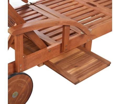 vidaXL Tumbona de madera maciza de acacia[5/6]