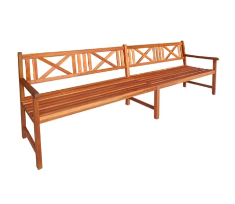 "vidaXL Garden Bench Solid Acacia Wood 94.5""x22""x35.4"" Brown[1/4]"