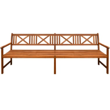 "vidaXL Garden Bench Solid Acacia Wood 94.5""x22""x35.4"" Brown[2/4]"