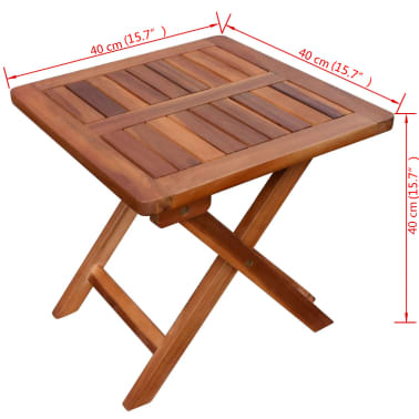 vidaXL Solseng med bord heltre akasie[11/11]