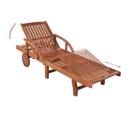 vidaXL Espreguiçadeira com almofadão madeira acácia maciça[5/9]