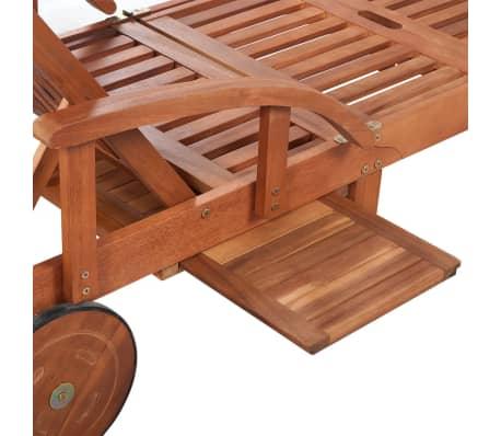vidaXL Espreguiçadeira com almofadão madeira acácia maciça[8/9]