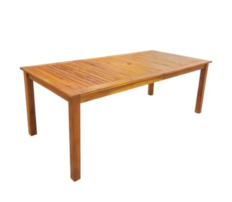 vidaXL 7 Piece Outdoor Dining Set Solid Acacia Wood[2/8]