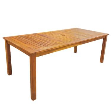 vidaxl garten essgruppe 7 tlg akazie massivholz braun 200 cm g nstig kaufen. Black Bedroom Furniture Sets. Home Design Ideas