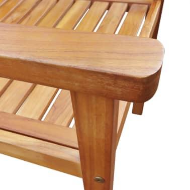vidaXL 7 Piece Outdoor Dining Set Solid Acacia Wood[6/8]