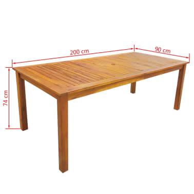 vidaXL 7 Piece Outdoor Dining Set Solid Acacia Wood[7/8]